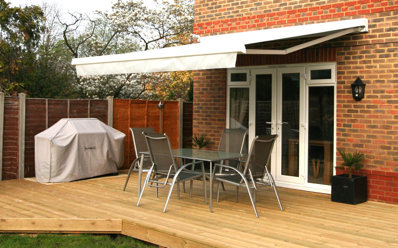 Retractable Awning Patio Cover Folding Arm 4 0m X 2 5m