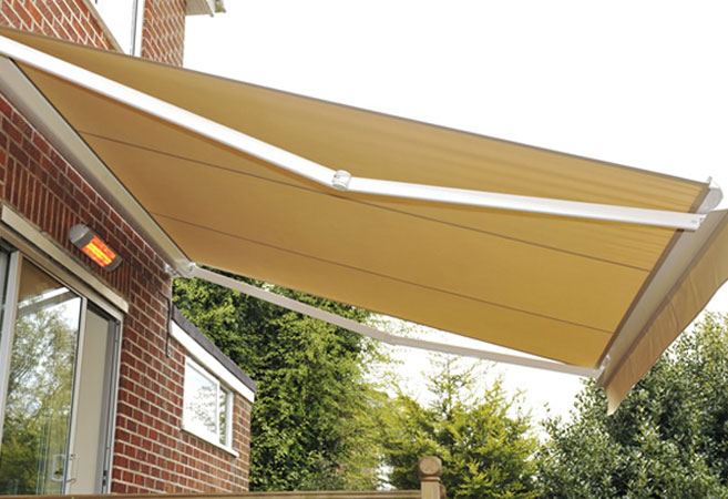 Retractable Awning Patio Cover Folding Arm 3 5m X 2 5m