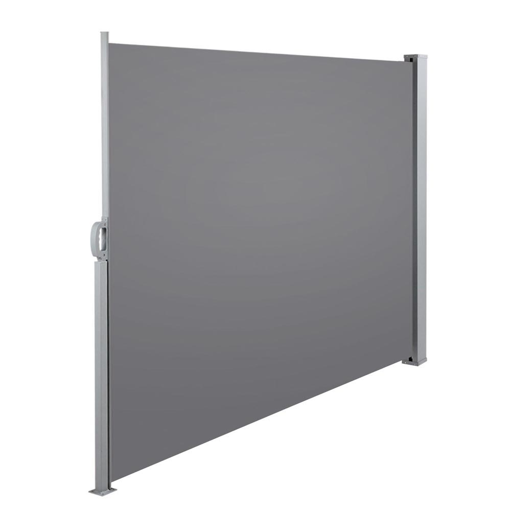 retractable side awning patio cover grey 1 8m high x 3 0m wide