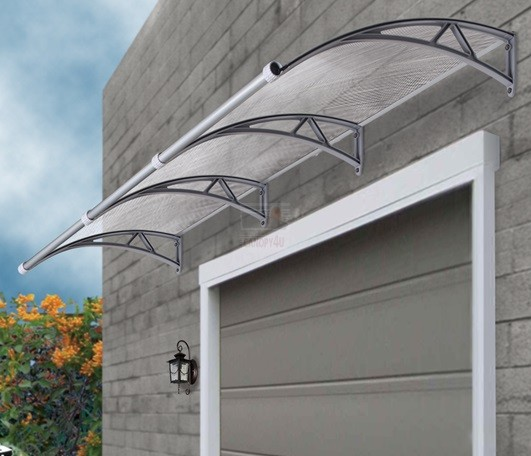 The hawthorn outdoor window awning cover 3m x 1m with gutter for Glass awnings for home