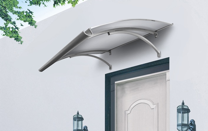 1400x900mm Entrance Front Door Patio Cover Canopy Window